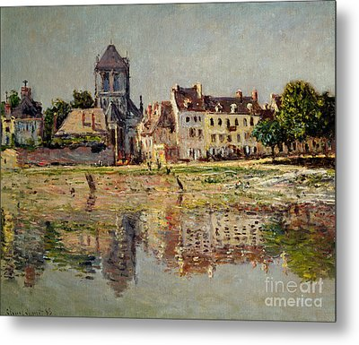 By The River At Vernon Metal Print by Claude Monet