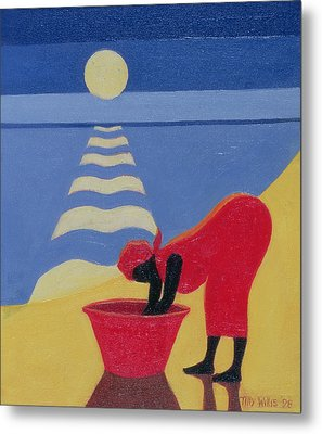 By The Sea Shore Metal Print by Tilly Willis