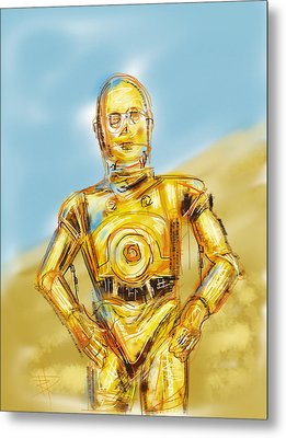C3po Metal Print by Russell Pierce