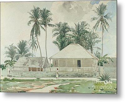 Cabins, Nassau Metal Print by Winslow Homer