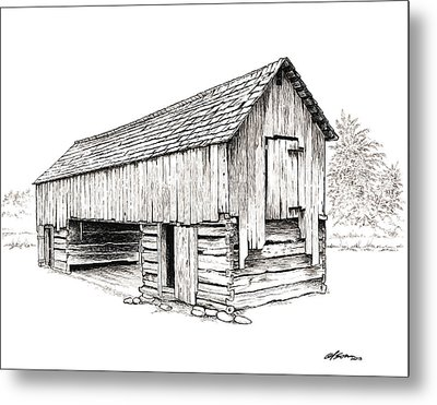 Cable Mill Barn Metal Print by Dave Olson