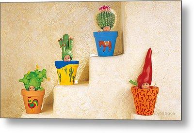 Cactus Pots Metal Print by Anne Geddes