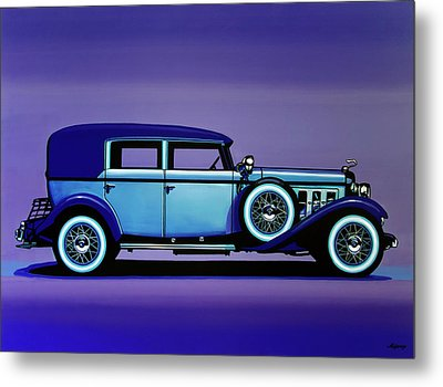 Cadillac V16 1930 Painting Metal Print by Paul Meijering