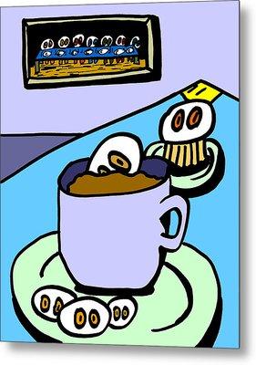 Cafe Cronkle Metal Print by Jera Sky