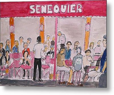Cafe Senequier St Tropez 2012 Metal Print by Bill White