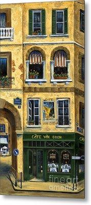 Cafe Van Gogh Paris Metal Print by Marilyn Dunlap