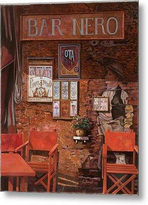 caffe Nero Metal Print by Guido Borelli