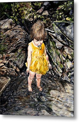 Caice At Otter Creek Metal Print by Thomas Akers