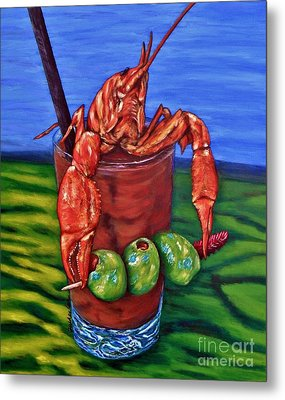 Cajun Cocktail Metal Print by JoAnn Wheeler