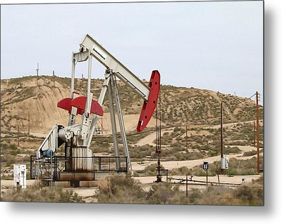 California Pumping Unit Metal Print by Art Block Collections