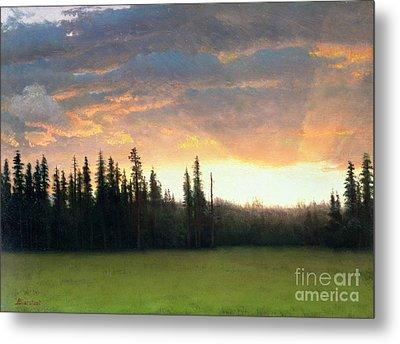 California Sunset Metal Print by Albert Bierstadt