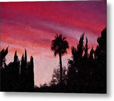 California Sunset Painting 1 Metal Print by Teresa Mucha