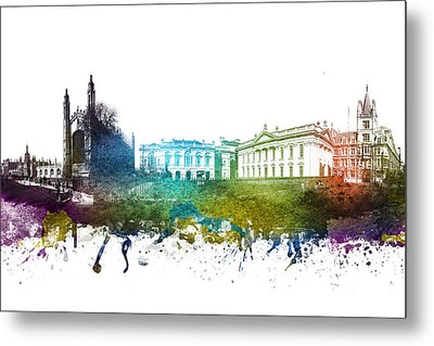Cambridge Cityscape 01 Metal Print by Aged Pixel