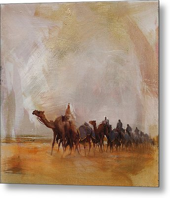 Camels And Desert 15 Metal Print by Mahnoor Shah