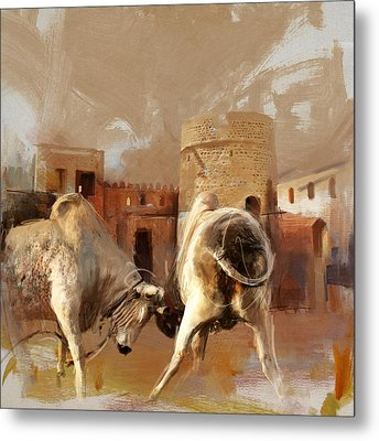 Camels And Desert 22 Metal Print by Mahnoor Shah