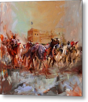 Camels And Desert 37 Metal Print by Mahnoor Shah