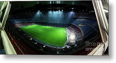 Camp Nou At Night Metal Print by Agusti Pardo Rossello