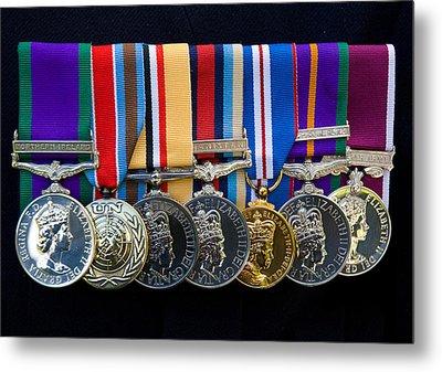 Campaign Medals Metal Print by Peter Jarvis