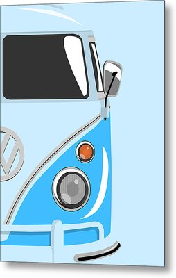 Camper Blue 2 Metal Print by Michael Tompsett