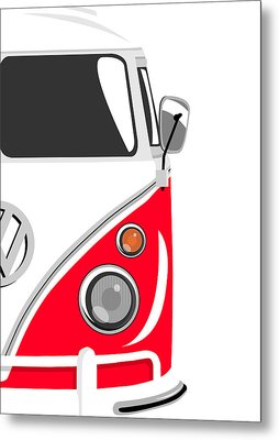 Camper Red 2 Metal Print by Michael Tompsett