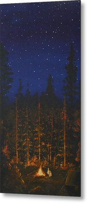 Camping In The Nothwest Metal Print by Jennifer Lynch
