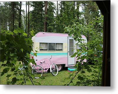 Camping Metal Print by Wild Fire