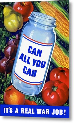Can All You Can -- Ww2 Metal Print by War Is Hell Store