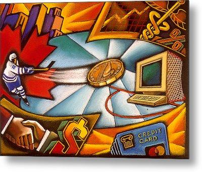 Canadian Economy  Metal Print by Leon Zernitsky
