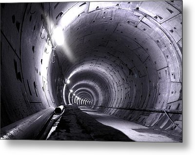 Cananda Line Tunnel Metal Print by Liz Towers
