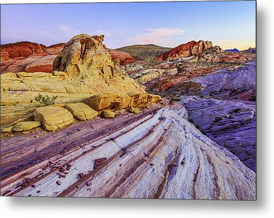Candy Cane Desert Metal Print by Chad Dutson