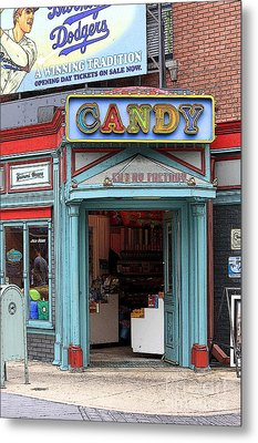 Candy Store Cartoon Metal Print by Sophie Vigneault