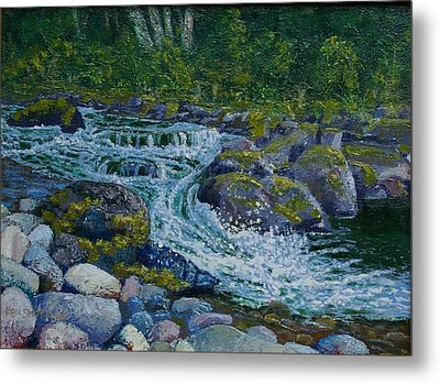 Canyon Creek Cadence Metal Print by Ron Smothers
