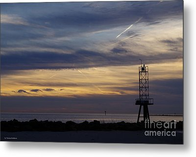 Cape Charles Sunset Metal Print by Tannis Baldwin