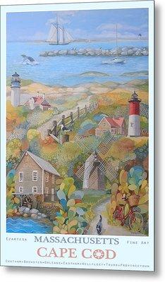 Cape Cod Metal Print by Ezartesa Art