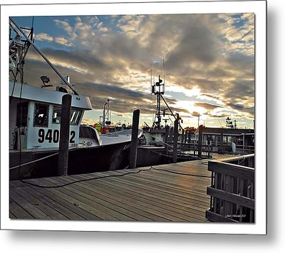 Cape Cod Harbor Metal Print by Joan  Minchak