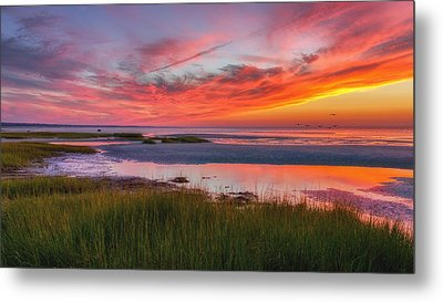 Cape Cod Skaket Beach Sunset Metal Print by Bill Wakeley