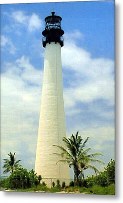 Cape Florida Lighthouse Metal Print by Frederic Kohli