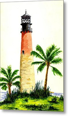 Cape Florida Lighthouse Metal Print by Michael Vigliotti