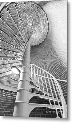 Cape May Lighthouse Stairs Metal Print by Dustin K Ryan
