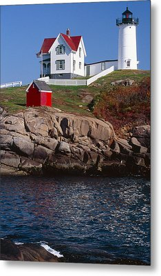 Cape Neddick Lighthouse York Maine Metal Print by George Oze