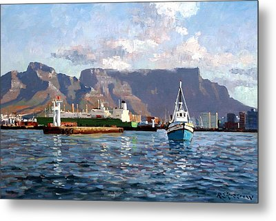 Cape Town Harbor Entrance Metal Print by Roelof Rossouw
