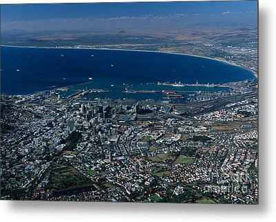 Capetown South Africa Aerial Metal Print by Sandra Bronstein