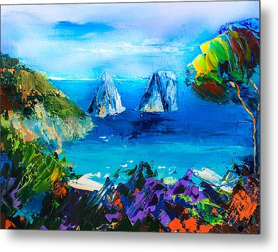 Capri Colors Metal Print by Elise Palmigiani