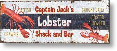 Captain Jack's Lobster Shack Metal Print by Debbie DeWitt