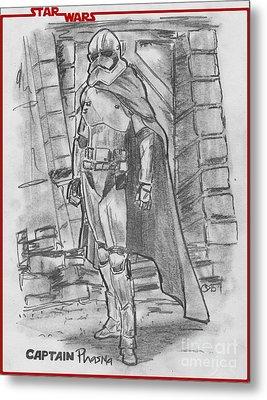Captain Phasma Metal Print by Chris  DelVecchio