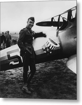 Captain Rickenbacker Metal Print by War Is Hell Store
