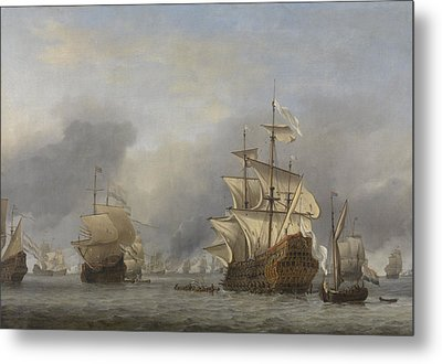 Capture Of The Royal Prince Metal Print by Willem Van De Velde The Younger