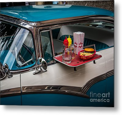 Car Hop Metal Print by Perry Webster