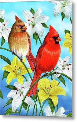 Cardinal Day Metal Print by JQ Licensing