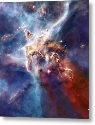 Carina Nebula Pillar Metal Print by The  Vault - Jennifer Rondinelli Reilly